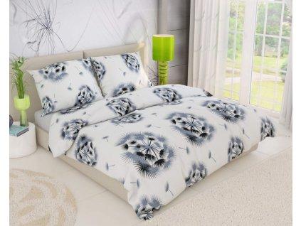 Kvalitex -  Bavlněné krepové povlečení 140x200 + 70x90 cm - Dream bílé