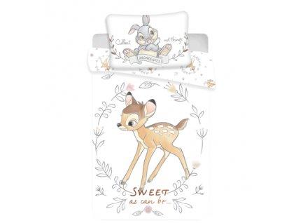 Zip -  Povlečení do postýlky 100x135 + 40x60 cm - Bambi Sweet baby