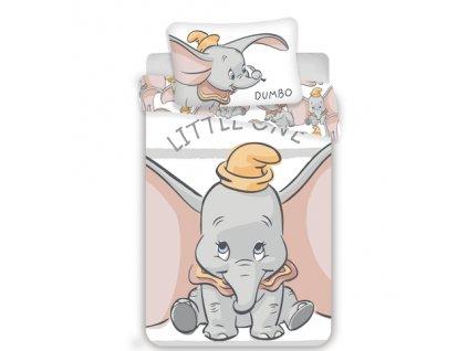Zip -  Povlečení do postýlky 100x135 + 40x60 cm - Dumbo Stripe baby