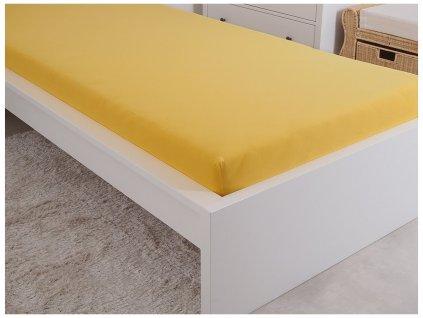 Froté prostěradla -  Prostěradlo Froté PERFECT 180x200 cm - Sytá žlutá
