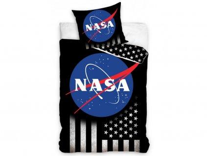 Dětské povlečení -  Bavlněné povlečení 140x200 + 70x90 cm - NASA Silver Stars