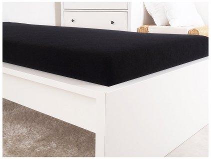 Froté prostěradla -  Prostěradlo Froté PERFECT 90x200 cm - Černá