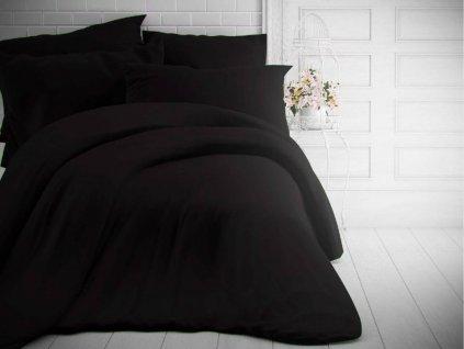 Kvalitex -  Jednobarevné bavlněné povlečení 140x200 + 70x90cm - Černé