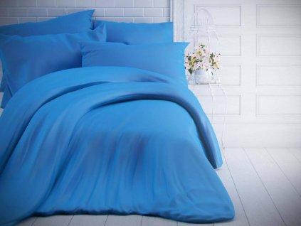 Kvalitex -  Jednobarevné bavlněné povlečení 140x200 + 70x90cm - Modré
