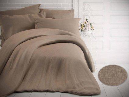 Kvalitex -  Jednobarevné bavlněné povlečení 140x200 + 70x90cm - Melír béžový
