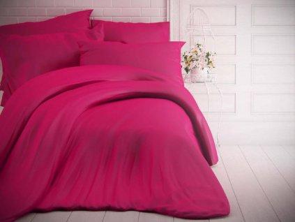 Kvalitex -  Jednobarevné bavlněné povlečení 140x200 + 70x90cm - Purpurové