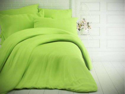 Kvalitex -  Jednobarevné bavlněné povlečení 140x200 + 70x90cm - Světle zelené