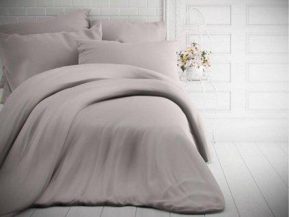 Kvalitex -  Jednobarevné bavlněné povlečení 140x200 + 70x90cm - Světle šedé