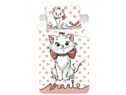 """Zip -  Povlečení do postýlky 100x135 + 40x60 cm - Marie Cat """"Dots 02"""" baby"""