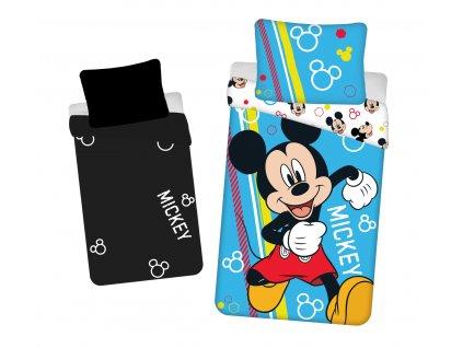 140 x 200 cm -  Bavlněné povlečení 140x200 + 70x90 cm - Mickey Happy se svítícím efektem