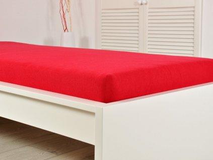 Froté prostěradla -  Prostěradlo Froté PERFECT 90x200 cm - Červená