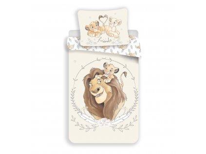 Bavlněné licenční dětské povlečení 140x200+70x90 - Lví král