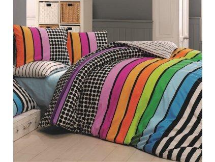 Bavlněné povlečení -  Bavlněné povlečení 140x200 + 70x90 cm - Stripes duo