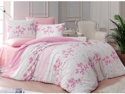 220 x 200 cm Francouzské -  Bavlněné povlečení 220x200 + 2x 70x90 cm - Viola pink