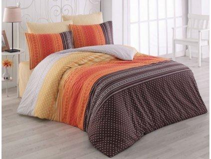 Luxusní bavlněné povlečení Purus oranžová 140x200
