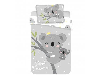 """Jerry Fabrics -  Povlečení do postýlky 100x135 + 40x60 cm - Koala """"Sweet Dreams"""""""