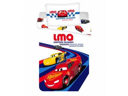 """100 x 135 cm -  Povlečení do postýlky 100x135 + 40x60 cm - Cars """"Racing hero"""" baby"""
