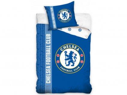 140 x 200 cm -  Bavlněné povlečení se svítícím efektem 140x200 + 70x90 cm - FC Chelsea Erb