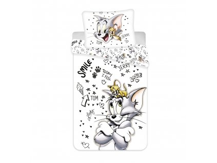 """140 x 200 cm -  Bavlněné povlečení 140x200 + 70x90 cm - Tom a Jerry """"TJ034"""""""