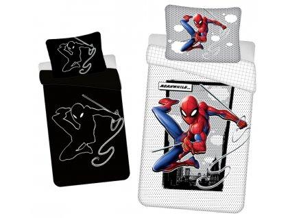 """140 x 200 cm -  Bavlněné povlečení se svítícím efektem 140x200 + 70x90 cm - Spider-man """"02"""""""