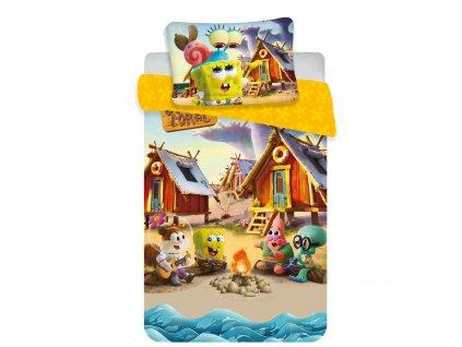 Zip -  Povlečení do postýlky 100x135 + 40x60 cm - Sponge Bob baby