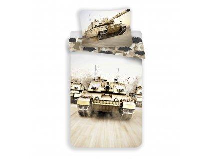 140 x 200 cm -  Bavlněné povlečení 140x200 + 70x90 cm - Tank
