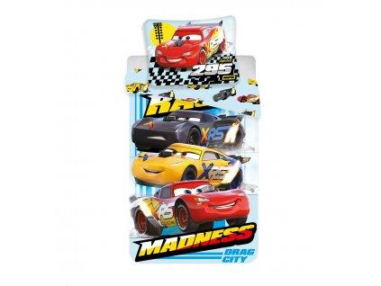"""140 x 200 cm -  Bavlněné povlečení 140x200 + 60x80 cm - Cars """"Madness"""""""