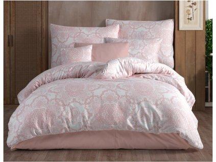 140 x 200 cm -  Bavlněné povlečení 140x200 + 70x90 cm - Lisle růžové