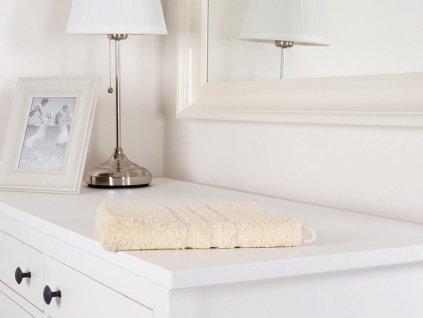 Bavlněný ručník froté Classic smetanová 50x100 (450g/m2)