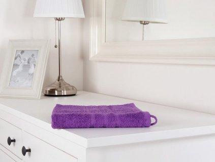 Bavlněný ručník fialový z froté Classic 50x100 (450g/m2)