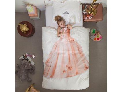 SNURK - Bavlněné povlečení  Snurk 135x200 + 50x75cm - Růžová princezna