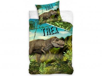 140 x 200 cm -  Bavlněné povlečení 140x200 + 70x90 cm - T-Rex v pralese