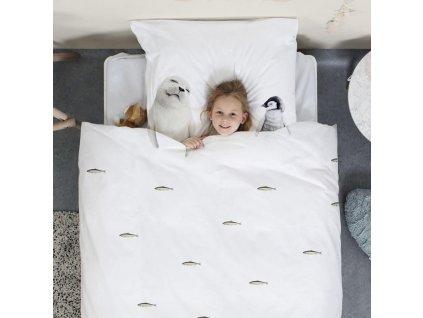 SNURK - Bavlněné povlečení  Snurk 135x200 + 50x75cm - Arktičtí přátelé