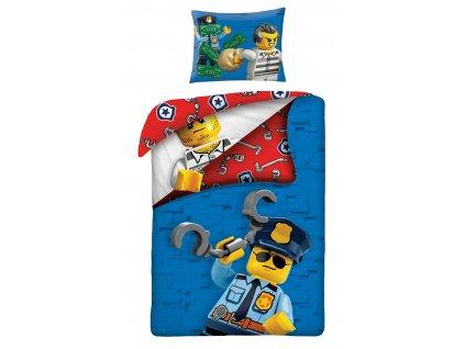 140 x 200 cm -  Bavlněné povlečení 140x200 + 70x90 cm - Lego