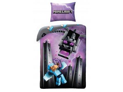 140 x 200 cm -  Bavlněné povlečení 140x200 + 70x90 cm - Minecraft Diamond Knight