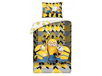 140 x 200 cm -  Bavlněné povlečení 140x200 + 70x90 cm - Mimoni Banana