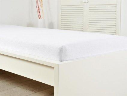 Froté prostěradla -  Prostěradlo Froté PERFECT 140-160x200 cm - Bílá