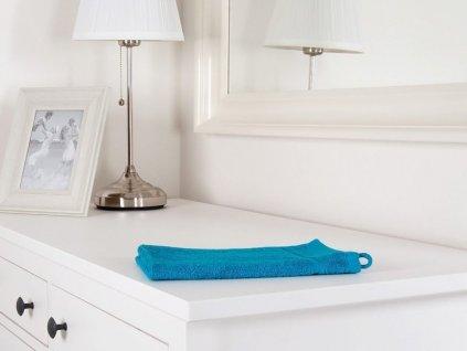 Ručník malý froté azurově modrý 30x50 Classic (450g/m2)