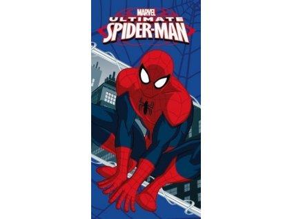 Bavlněná froté osuška 70x140 cm - Ultimate Spiderman modrá