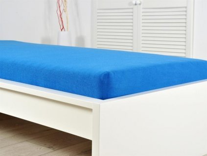 Prostěradlo Froté PERFECT 140-160x200 cm - Královská modrá