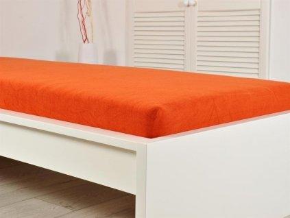 Froté prostěradla -  Froté elastické prostěradlo  140x200 cihlová (190g/m2)