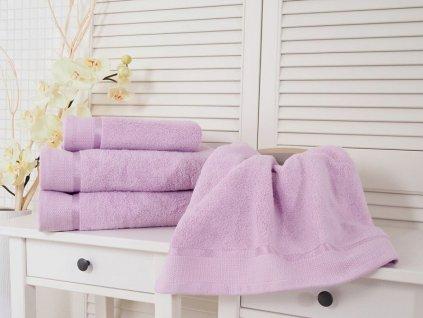 Bavlněný froté ručník fialová 50x100 Fluffy (500g/m2)