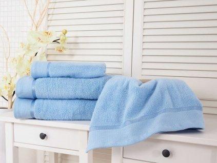 Bavlněný froté ručník modrá 50x100 Fluffy (500g/m2)
