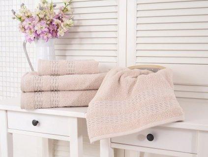 Bavlněný froté ručník krémová 50x90 Estrella (450g/m2)