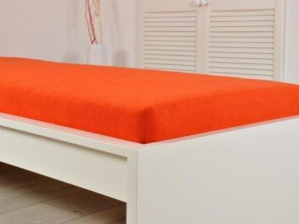 Froté prostěradla -  Froté elastické prostěradlo 160x200 cm jahoda (190g/m2)