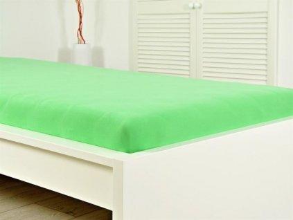 140 g_m2 -  Jersey elastické prostěradlo 160x200 s gumou svěží zelená