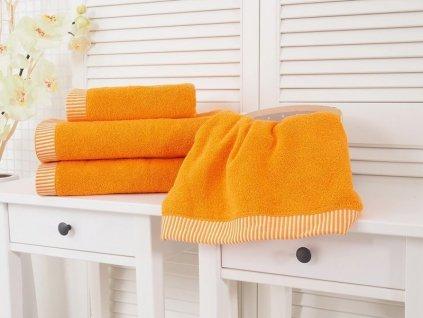 Froté osuška Colomba oranžová 70x140