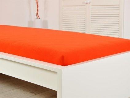 140 g_m2 -  Jersey prostěradlo elastické 160x200 s gumou jahoda