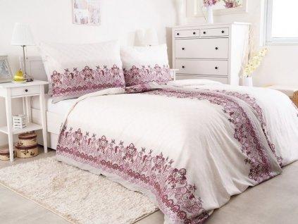 Saténové povlečení ze 100% česané bavlny Hedebo růžová 140x200