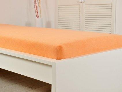 Prostěradlo Froté PERFECT 200x220 cm – Lososová